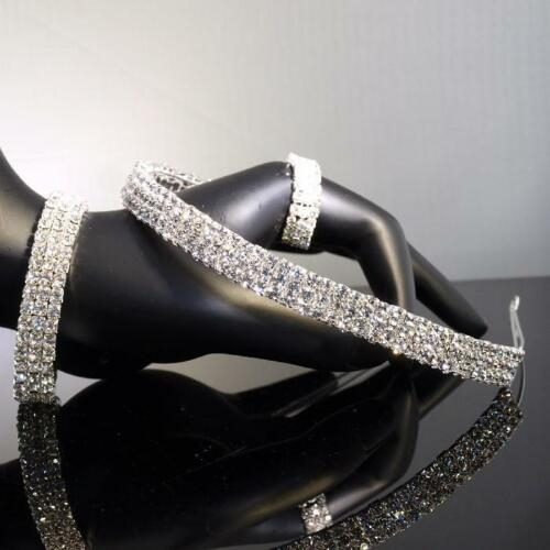 Bridesmaid made with Swarovski Crystal Silver Tiara w Bracelet Gift T062 b123