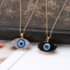 Gold-Charm-Pendant-Turkish-Evil-Eye-Necklace-Stainless-Steel-Good-Luck-Jewelry