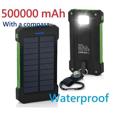 POWERNEWS 500000mAh USB Portable Solar Battery Charger Solar Power Bank Phone KB
