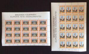 Guernsey - 1978, Europa sheetlets / sheets x 2 - MNH - SG 165/6