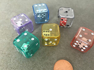 NEW-Set-of-6-Mix-Color-Double-Six-Sided-Dice-Game-RPG-Math-2-In-1-Dice