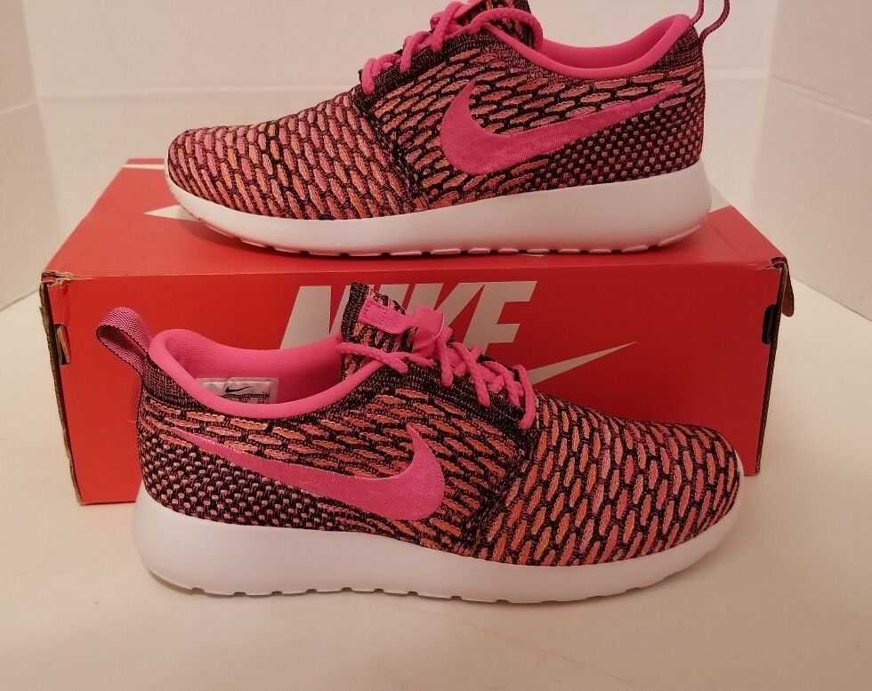 NIKE ROSHE ONE FLYKNIT RUNNING SHOES SNEAKERS WOMEN'S SZ 7 NEW 704927 004