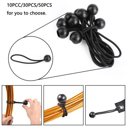 Schwarz Ball Bungee Cord Heavy Duty Tarp Bungee Tie Down Strap Accessory DE