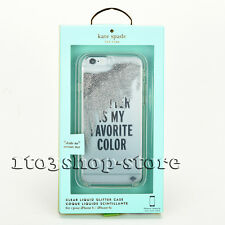 Kate Spade Silver Liquid Hard Case for iPhone 6s 6 Glitter is My Favorite Color