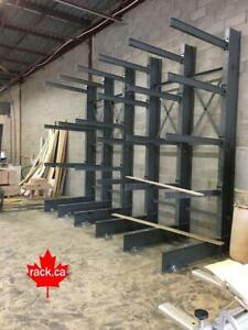 Structural Cantilever Racking In Stock - Made In Canada - Quick Ship To Newfoundland - Industrial Storage Rack Newfoundland Preview