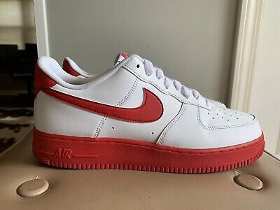 Nike Air Force 1 Low White Red Sole Mens Ck7663 102 Shoes