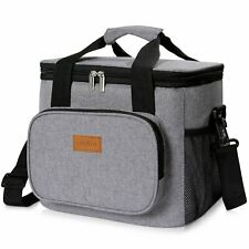 NEW Insulated Cooler Bag 20L Soft Tote Lunch Box with Zipper for Cooling off