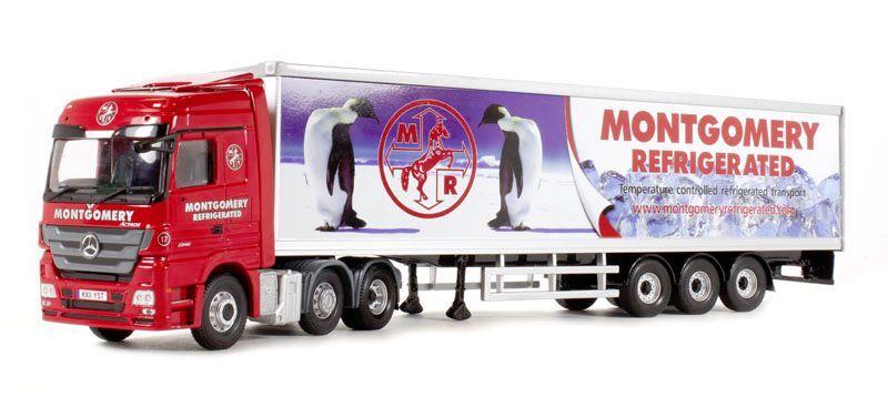 CORGI MODERN Transport Lourd CC13826 MERCEDES ACTROS frigo Montgomery 1 50