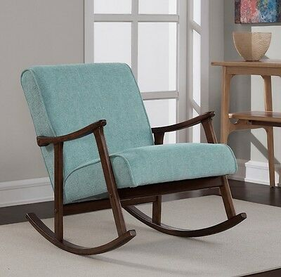 Mid Century Modern Rocking Chair For Nursery Chairs Bedroom Rocker Retro New 795545551109 Ebay
