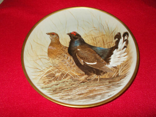 SELECT PLATE GAME BIRDS OF THE WORLD BY BASIL EDE LIMOGES PLATES