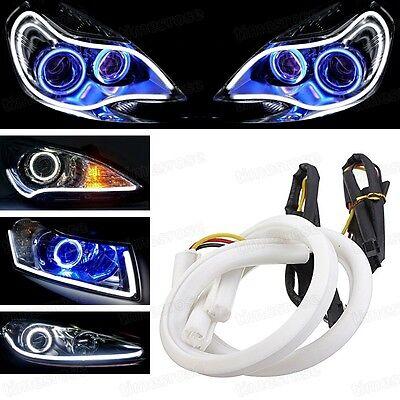 45cm LED Strip Lights DRL Xenon White Headlight Retrofit Daytime Running Lights
