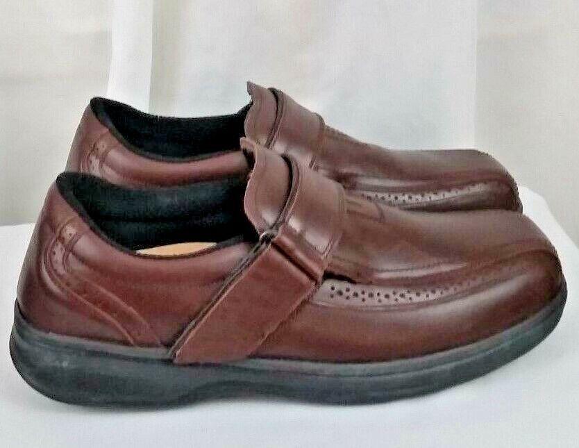 Ortho Feet diabetic orthotic orthotic orthotic brown leather strap mens shoes SZ 11M 288b33