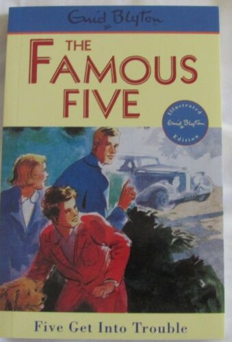 1 of 1 - Enid Blyton THE FAMOUS FIVE #8 Five Get Into Trouble sc 2009