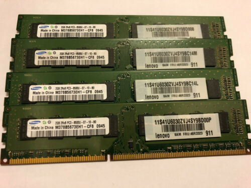 4 x Samsung 2GB DDR3 1066MHz PC3-8500