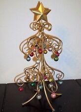 12 metal wire christmas display tree w miniature mercury glass ornaments