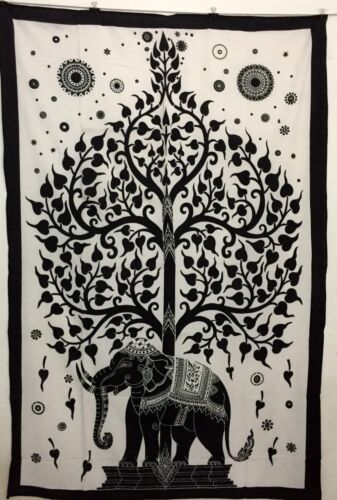 Hand Screen Printed Tapestry Twin Size Handmade Indian Cotton Comfortable Fabric