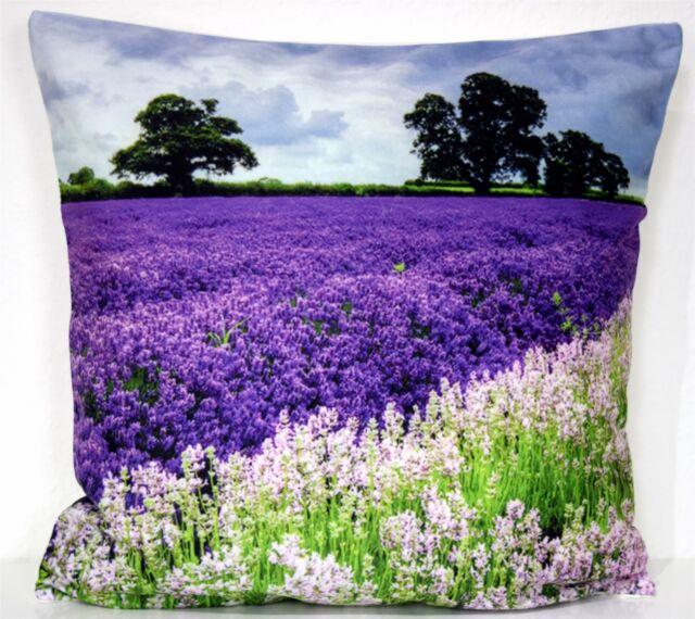 Kissenhülle Kissenbezug Dekokissen Fotodruck Lavendel 40x40 Cm