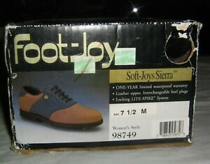 Vintage-Foot-Joy-Soft-Sierra-Women-039-s-Golf-Shoes-98749-Size-7-1-2-Spikes-NOS