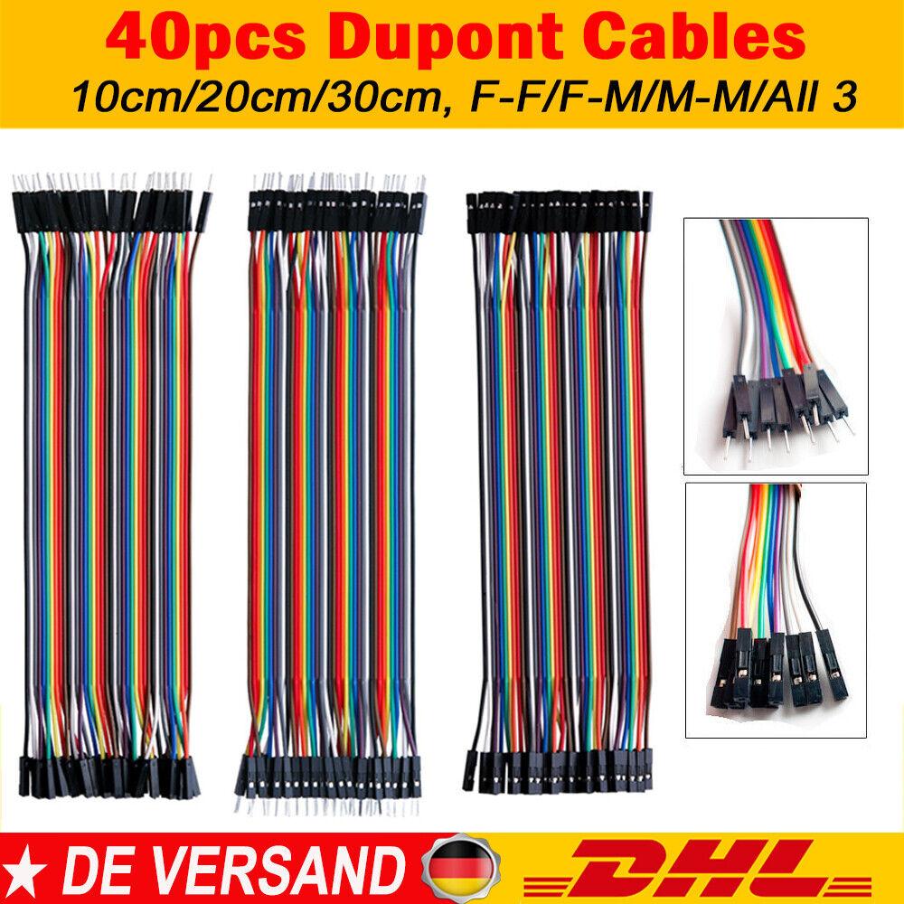 40Pin 10-30cm Dupont Jumper Wire Kabel Draht Linie Verbindungskabel Arduino