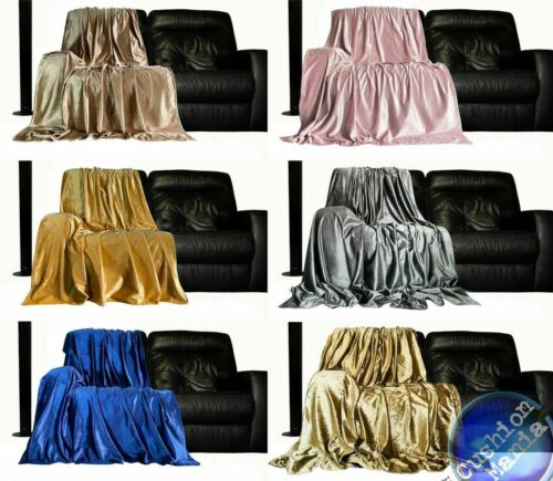 Throwover bedspread PLUSH Velvet New Sofa or bed Throw or Cushion Cover