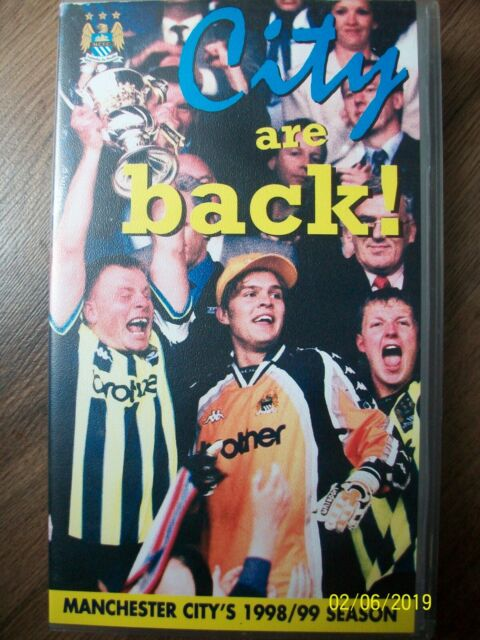 City Are Back! VHS Video Manchester City's 1998/99 Season Official Club Football
