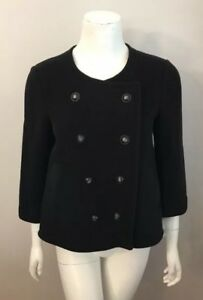 Size Jacket 448 Joie Xs Wool Breasted Leija Black Double Nwt Coat nF0qOvq8P