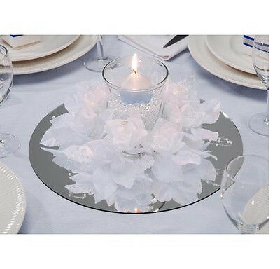 4 - 12 inch Round Glass Mirrors - Wedding & Party Centerpieces Painting Etching