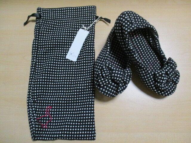 Pampuschen Damen Hausschuhe  DAISY 76-1605  1359 schwarz-weiß gepunktet
