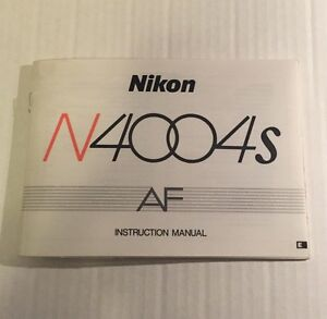 vintage nikon n4004s af 35mm slr film camera genuine instruction rh ebay com Nikon F7 Nikon F401