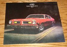 Original 1974 Pontiac GTO Sales Brochure 74