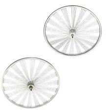 """26"""" Fan Wheel Set Lowrider 144 Spoke Rear Coaster Bicycle Cruiser Chopper Bike"""