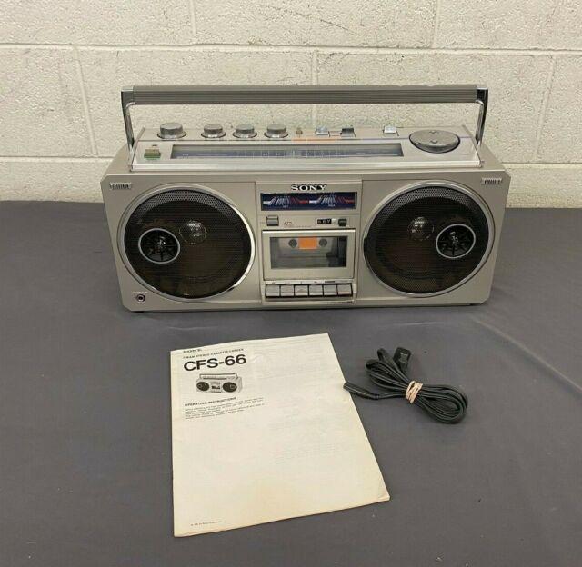 Vintage 1981 Sony Cfs Fm Stereo Cassette