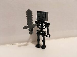 Lego Minecraft Wither Skeleton From Set 21126 Ebay