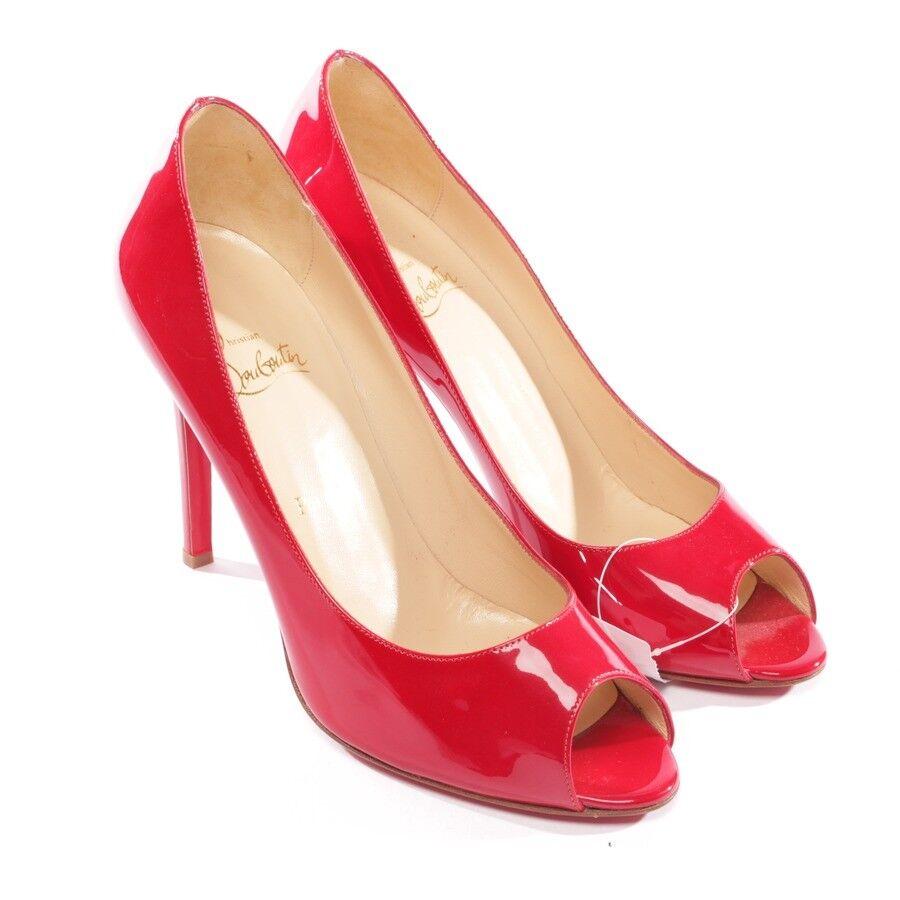 CHRISTIBN LOUBOUTIN Peep Toes Gr. D 39,5 Rot Damen Schuhe High Heels