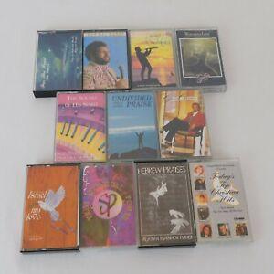 Lot of 11 Christian Music Cassettes Praise Worship Instrumental Vocals INSPECTED