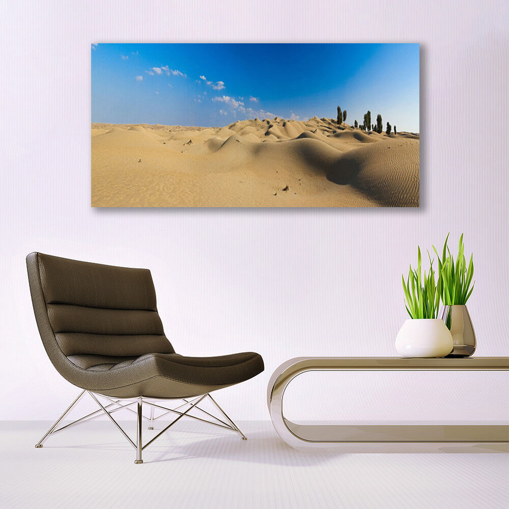 Print on on on Glass Wall art 140x70 Picture Image Desert Landscape ccb071