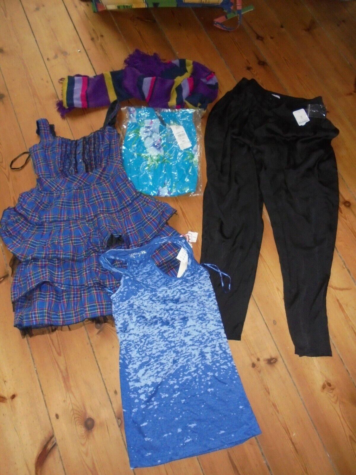 5x Kleid Harem Hose Batik Top Shirt Schal Set Gr 34 36 XS 8 Primark Avanti NEU