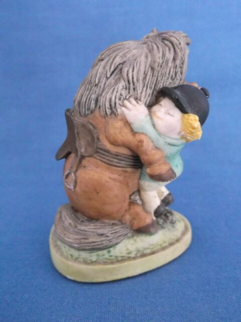 BORDER FINE ARTS THELWELL HE'LL FIND YOU HORSE RIDING FIGURINE ENGLAND 1983