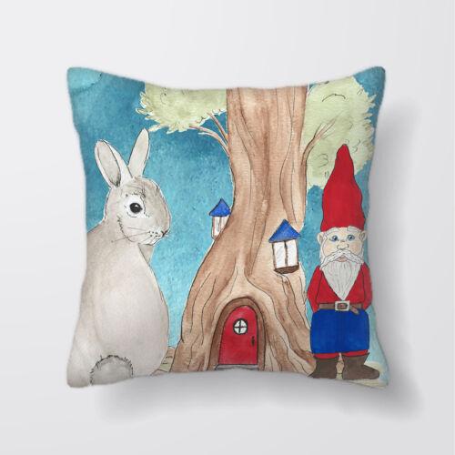 Casa de GNOME Conejo Cushion Covers Fundas Almohada De Decoración del hogar o interior
