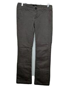 American-Eagle-Women-039-s-Kick-Boot-Jeans-Size-0-Regular-Gray-denim-Chino-pants-0