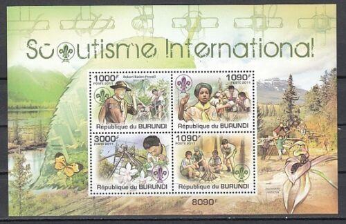 Burundi, 2011 issue. Scouting International sheet of 4. Orchid in design.