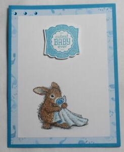 House-Mouse-Bunny-Pacifier-Handmade-Card-Happy-Cutest-Baby-Ever-Boy-Blue-Feet