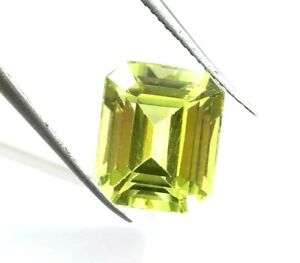 7.60 Ct Natural Yellow Sapphire Emerald Cut AGSL Certified Loose Gemstone