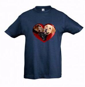 Labrador Tshirt Kids Dog Themed T-shirt Childrens Tee Lab, Check Measurements