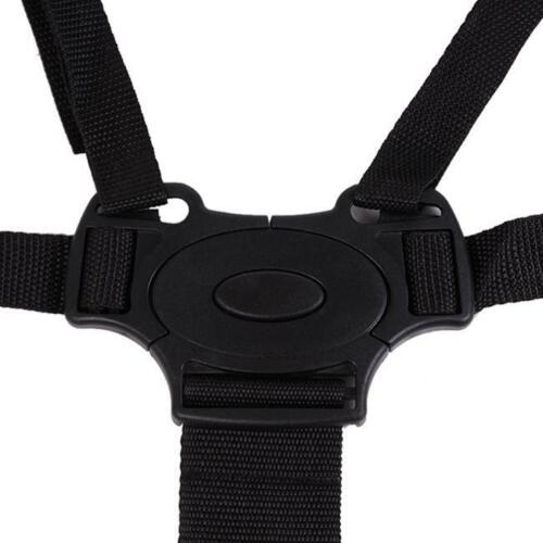 Kids Baby Harness Safe Seat Belts Suit Stroller High Chair Pram Buggy Black 6A