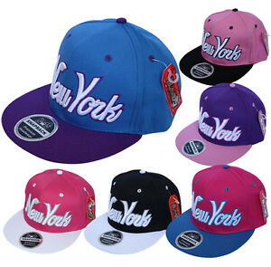 60a4ba42b Details about Bloods Headwear 2 Tone NY New York Script Snapback Flat Peak  Cap Hat Snap Back