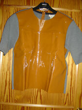 Original Marni at H&M Leder-Pullover Pulli Lackleder Braun EU Gr. 42 US 12 UK 16