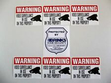 Brinks Home Security Alarm System Warning Window Sticker Police - Window decals for home security