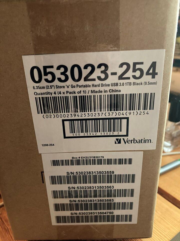 Verbatim, ekstern, 1000 GB