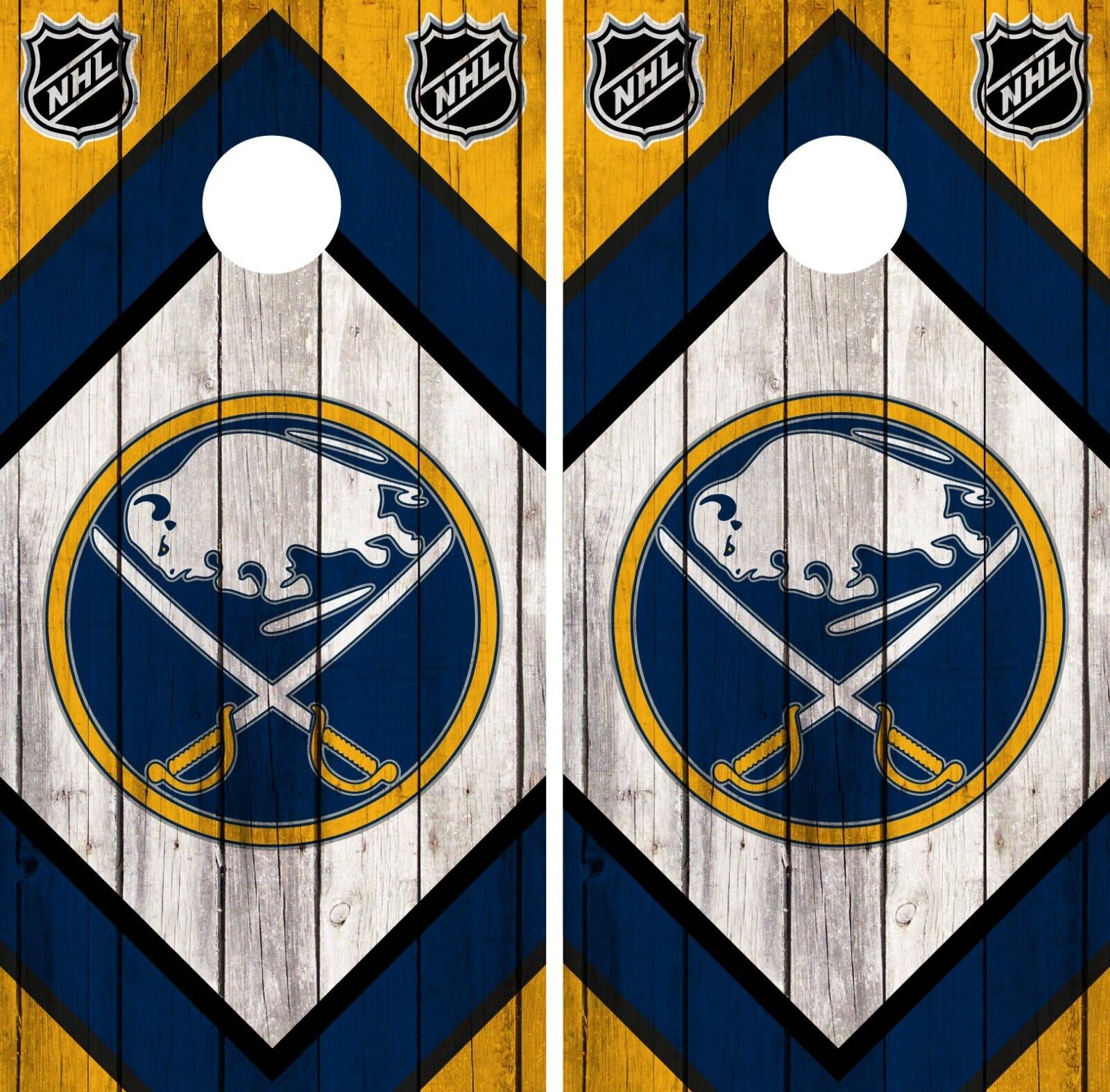 Buffalo Sabres Cornhole Wrap NHL Game Board Skin Set Vinyl Decal Art CO283